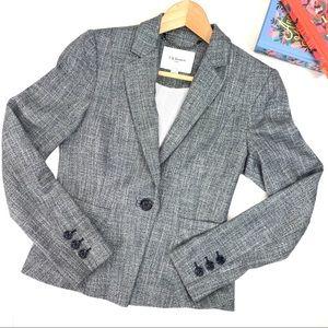 L.K. Bennett Gray Darcie Pleated Blazer Jacket 2